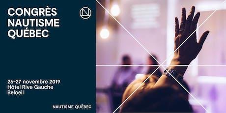 CONGRÈS NAUTISME QUÉBEC 2019 billets