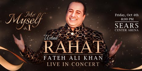 Rahat Fateh Ali Khan -Me , Myself & I tickets