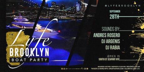 Lyfe Brooklyn Boat Party Yacht Cruise NYC tickets