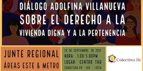 Diálogo Adolfina Villanueva sobre Vivienda Digna y Pertenencia tickets