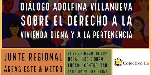 Diálogo Adolfina Villanueva sobre Vivienda Digna y Pertenencia