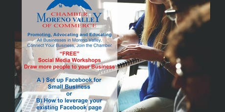 Free Lunch & Small Business Social Media Workshop at Moreno Valley Chamber tickets
