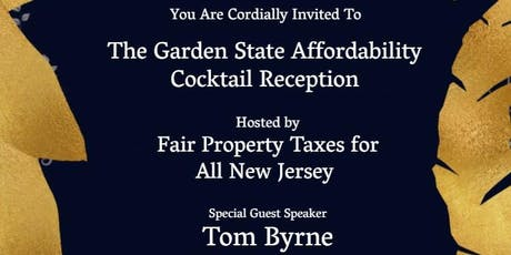 Garden State Affordability Cocktail Reception, special guest Tom Byrne tickets