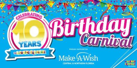 10 Year Birthday Carnival tickets