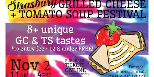 Strasburg's 3rd Annual Grilled Cheese + Tomato Soup Festival!