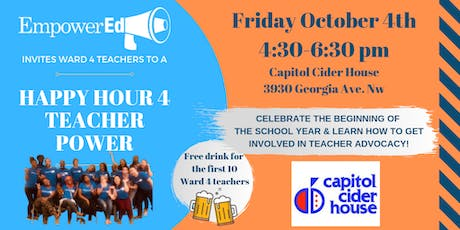 Ward 4 Teacher Happy Hour w/ EmpowerEd tickets