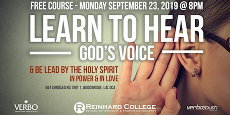 LEARN TO HEAR GOD'S VOICE - FREE COURSE tickets