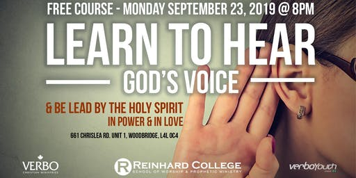 LEARN TO HEAR GOD'S VOICE - FREE COURSE