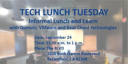 Bear Cloud Technologies with Qumulo Storage's Tech lunch Tuesday