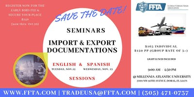 Export & Import Documentation Seminar - Nov.12, 2019