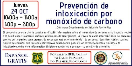Prevención de intoxicación por monóxido de carbono tickets