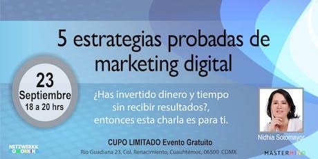 5 Estrategias Probadas de Marketing Digital boletos