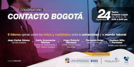 Contacto Bogota: primer conversatorio académico empresarial entradas