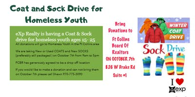 Coat and Sock Drive for Homeless Youth in  the Fort Collins Area