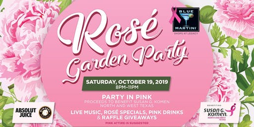 Rosé Garden Party - Blue Martini Plano