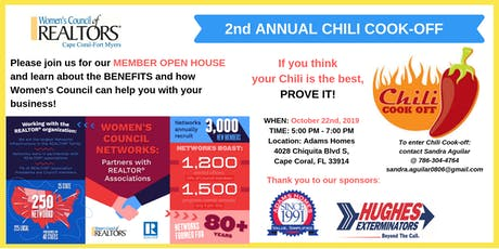 2nd Annual Chili Cook-Off, Membership Drive & Orie tickets