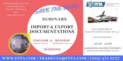 Aprenda Documentos en las Exportaciones & Importaciones en los EE.UU.  Nov.13,2019