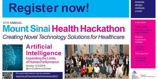 Mount Sinai Health Hackathon Friday Workshops
