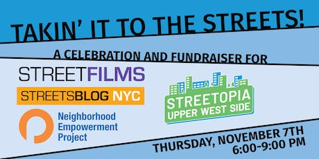 Takin' It to the Streets! A Party and Fundraiser for OpenPlans. tickets