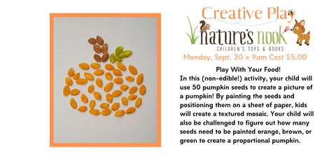 Creative Play Theme Pumpkins - Monday, Sept. 30 at 9:30am tickets
