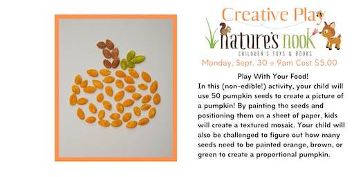 Creative Play Theme Pumpkins - Monday, Sept. 30 at 9:30am