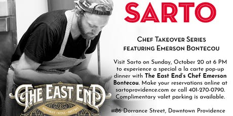 The East End Takeover Dinner at Sarto tickets