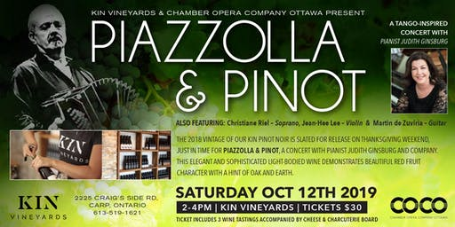 Piazzolla & Pinot - Judith Ginsburg and Company in Concert at KIN Vineyards