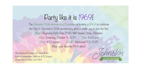 Johnston's 50th Anniversary Gala tickets