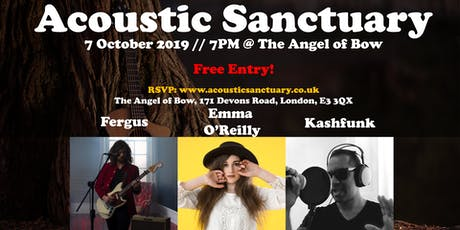 Acoustic Sanctuary: Fergus // Emma O'Reilly // Kashfunk tickets