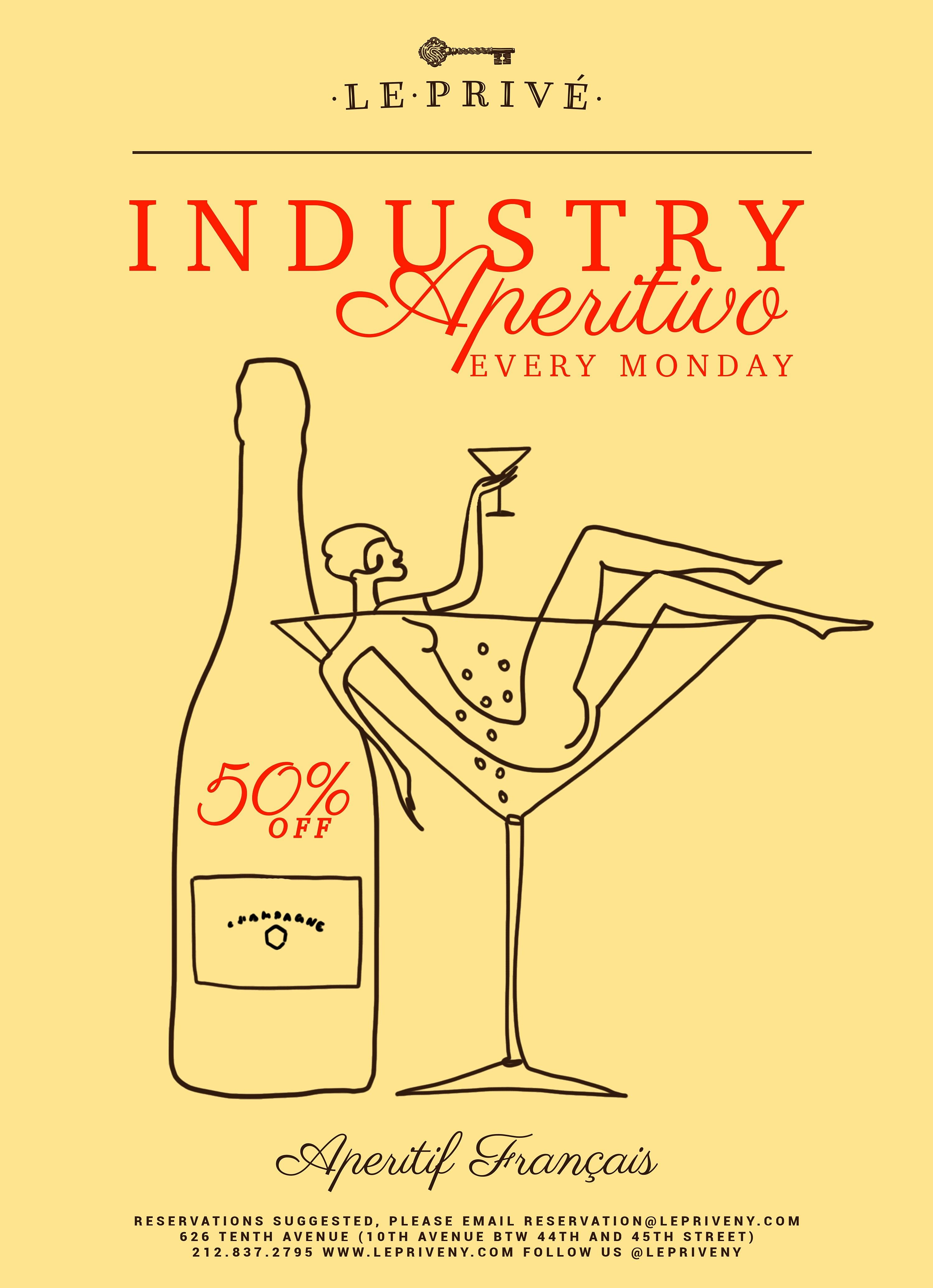 Aperitivo Mondays | 50% off All Food and Drink