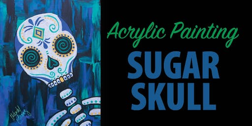 Acrylic Paint Night Sugar Skull