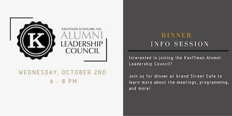 Kauffman Alumni Leadership Council - Dinner Info Session tickets
