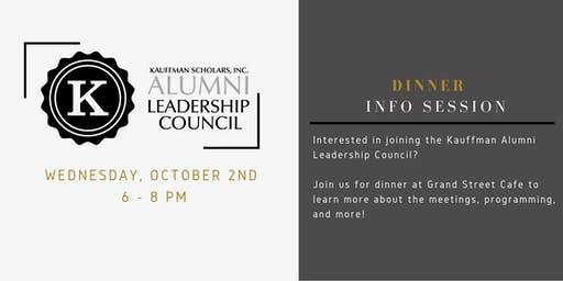 Kauffman Alumni Leadership Council - Dinner Info Session