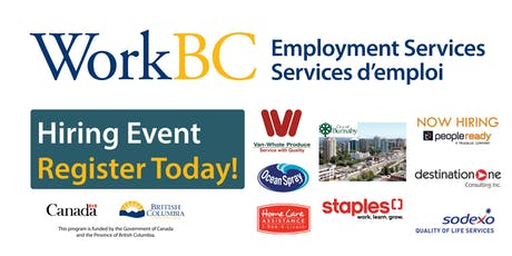 Vancouver North East WorkBC - Careers in Engineering/Construction/Warehouse/ Food Industries tickets