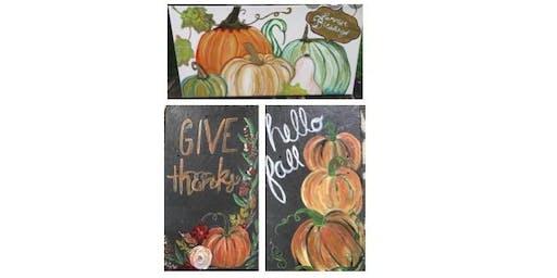 Fall Pumpkin Paintings