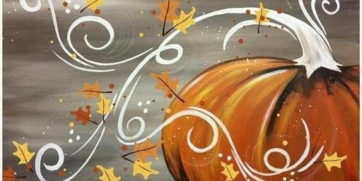 Paints & Pints: Fall Pumpkin Canvas (CLASS #2)