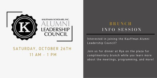 Kauffman Alumni Leadership Council - Brunch Info Session