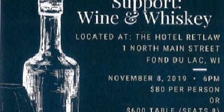 5th Annual Sip & Support: Wine & Whiskey tickets