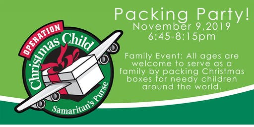2019 Operation Christmas Child Packing Party
