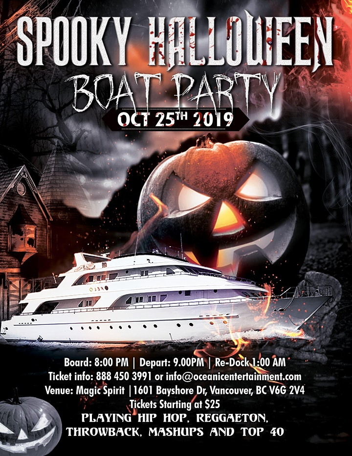 Spooky Halloween Boat Party Vancouver image
