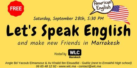 Let's Speak English in Marrakesh Tickets