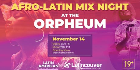 Afro Latin Mix Night tickets