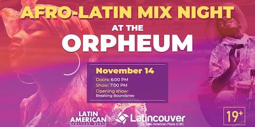 Afro Latin Mix Night