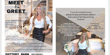 Marina B Meet and Greet - Autumn Home Decorating tickets