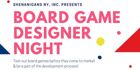 Board Game Designer Night tickets