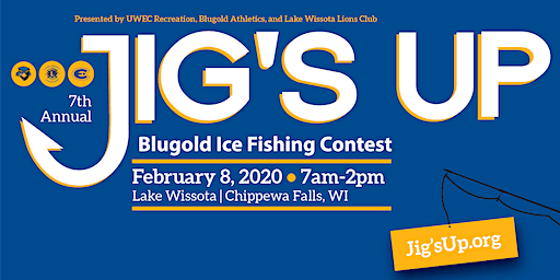 Jig's Up Blugold Ice Fishing Contest on Lake Wissota