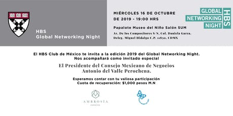 HBS GLOBAL NETWORKING NIGHT 2019 boletos
