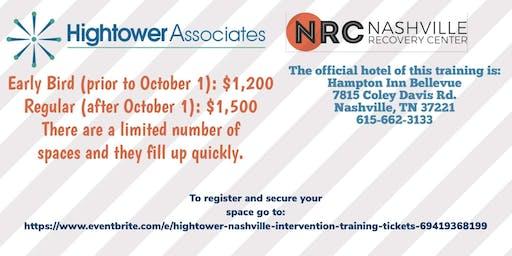Nashville Intervention training with Earl Hightower