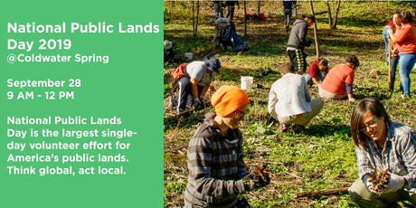 National Public Lands Day at Coldwater Spring tickets