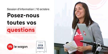 Session d'information - Le Wagon Montréal vous ouvre ses portes tickets